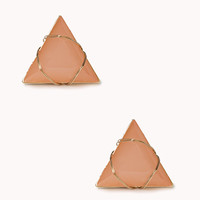 Triangle Faux Gemstone Studs