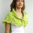 Free Shipping Handmade Pistachio Green Midi Shawl scarf collar Capelet Cowl Mothers day  Gift under75