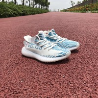 Aidas YEEZY BOOST 350 V2 Blue Zebra Men Women Sneaker