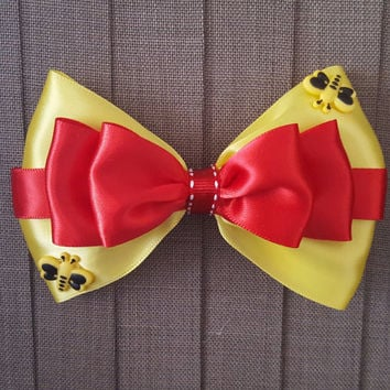 Disney Inspired Winnie the Pooh Hair Bow
