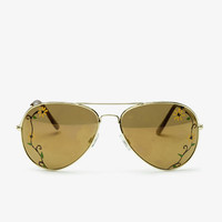 F0335 Aviator Sunglasses