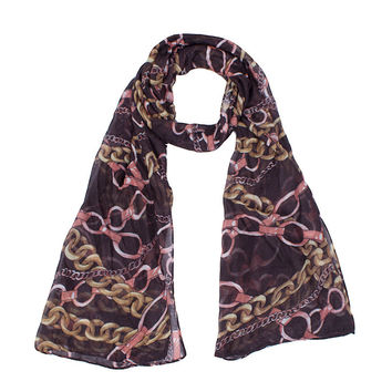 Famous Brand Navy Blue and Black Stripe Print Women Scarf Shawl Long Size For Lady Childred Soft Feel Vintage 180*40cm