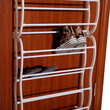 New Hanging Shoe Rack Over the Door 36 Pairs Closet Space Saver Organizer Storage 12 Layers