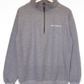 New York, NY Half Zip Sweatshirt