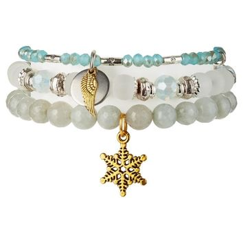 Chavez for Charity Snow Angel Bracelets, Set of 3