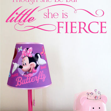 Though she be but little she is fierce Shakespeare wall decal