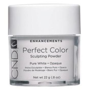 CND - Perfect Color Powder - Pure White - Opaque 0.8 oz