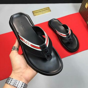Gucci Casual Fashion Sandal Slipper Shoes Red