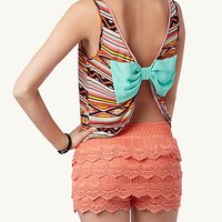 Bow Back Tribal Crop Tank
