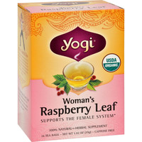 Yogi Tea Woman's Raspberry Leaf - Caffeine Free - 16 Tea Bags