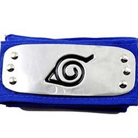 Naruto Headband Leaf Village Metal Plated Cosplay Accessories Blue
