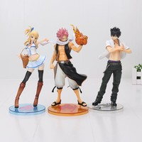 23cm Fairy Tail Natsu Dragneel Erza Gary Lucy PVC Action Figure Collectible Model Toy