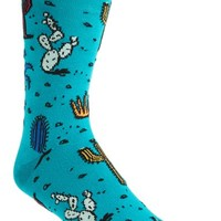 Men's Topman Cactus Pattern Socks