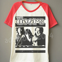 THE DOORS T-Shirt Jim Morrison T-Shirt Short Sleeve Tee Shirt Short Baseball Shirt Jersey T-Shirt Unisex T-Shirt Women T-Shirt Men T-Shirt