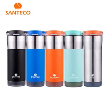 Santeco Origami Series Office Thermal Tumbler Vacuum Insulated Coffee Cup BPA free Water Bottle 473ml 590ml