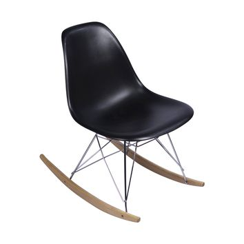 Eames Style Side Chair, Black with Rocker Base