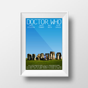 Doctor Who poster, Stonehenge, Movie Poster, Dr. Who, Doctor Who Print