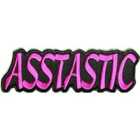 "Embroidered Iron On Patch - Asstastic 4"" x 1.25"" Patch"