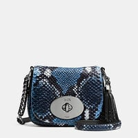 LIVcrossbodyin python embossed leather