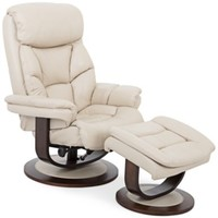 Aby Leather Recliner Chair & Ottoman | macys.com