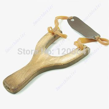 Style Wood Slingshot Wooden Traditional Toy Wooden Sling Shot New