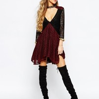 Native Rose Kosmic Blues Smock Dress at asos.com