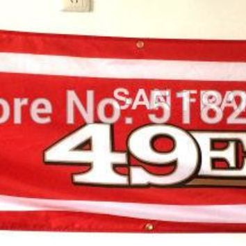 San Francisco 49ers Banner 2x8FT  NFL Flag