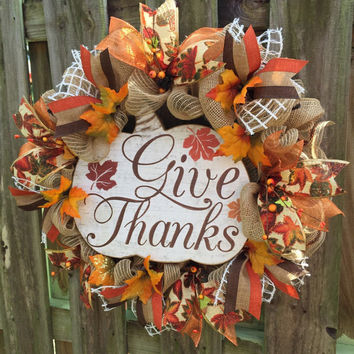 Fall Wreath, Pumpkin Wreath, Fall Deco Mesh Wreath, Fall Rustic Wreath, Fall Burlap Wreath, Front Door Wreath, Fall Pumpkin Wreath