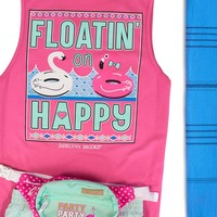 Jadelynn Brooke Tank Floating On Happy (Hot Pink)