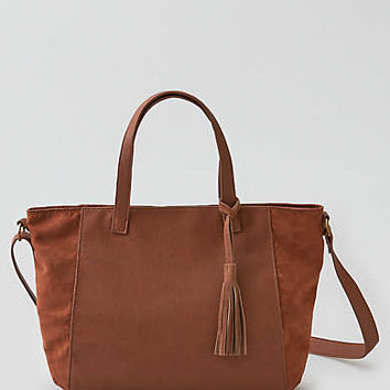 AEO Paneled Mini Tote, Brown