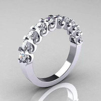 CZ SOLITAIRE 925 STERLING SILVER ENGAGEMENT AND WEDDING RING FOR HER