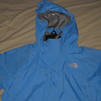 EUC Vintage The North Face Casual Winter Hooded Raining Jacket Girls Large Windbreaker