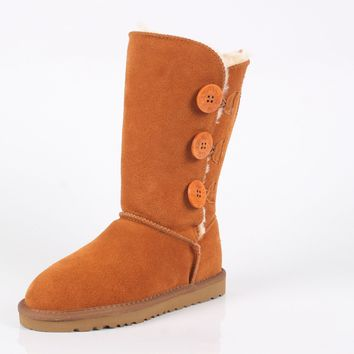 On Sale Hot Deal Knee-length Flat Thicken Cotton Shoes Plus Size Boots [118135455769]
