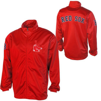 Boston Red Sox Scout Full Zip Track Jacket - Red