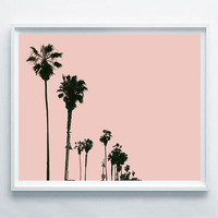 Palms Printable Art, Palm Modern Decor, Pink Palm Wall Decor, Palm Gift Idea, Summer Palm Decor, Surf Palm Decor, Relax Digital Art Palms