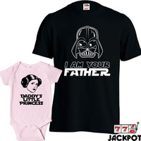 Matching Father Daughter Shirts I Am Your Father Shirt Daddys Little Princess Baby Bodysuit Matching Family Shirts First Fathers Day MD-427D