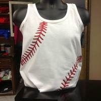 Custom, Personalized Baseball Tank with Player Name and Number