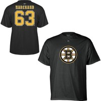 Reebok Boston Bruins Brad Marchand Player Name & Number T-Shirt (X-Large)