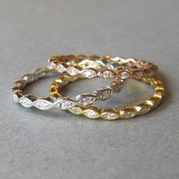 Chose a color rose gold, gold or white gold ( plated over sterling silver), tiny ring, stack ring, midi ring, knuckle ring. infinity ring