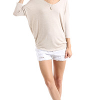 V-NECK DOLMAN SLEEVE TUNIC
