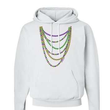 Mardi Gras Beads Necklaces Hoodie Sweatshirt