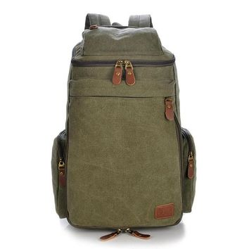 Boys bookbag trendy Vintage Retro Canvas Backpack Travel Casual Leather Bags for both Women and Men  for Teen Girls and Boys mochila AT_51_3