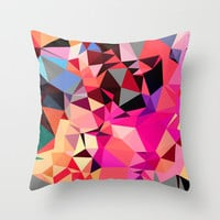 Modern Art Pink Pillow Cover