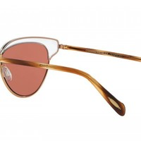 Oliver Peoples | Josa Crystal/Rose Gold with Damson Sunglasses by Oliver Peoples