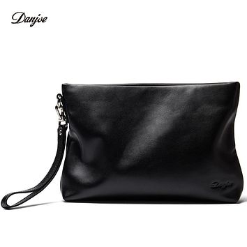 Men Hand Bag Genuine Leather Day Clutches Bag Male Business Phone Bag Long Natural Men Daily Bag Wallet