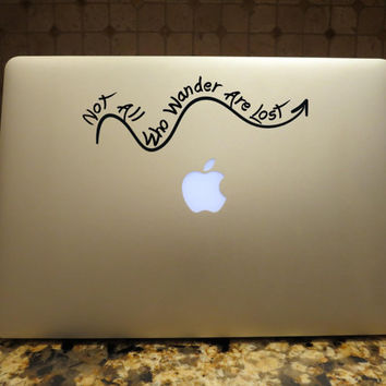 Not All Who Wander Are Lost Arrow Decal Custom Vinyl Computer Laptop Car auto vehicle window decal custom sticker Boho Decal