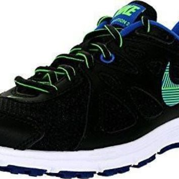 NIKE WOMEN'S REVOLUTION 2 RUNNING SHOE (7.5 B(M) US, BLACK/GAME ROYAL/WHITE/GREEN STRI