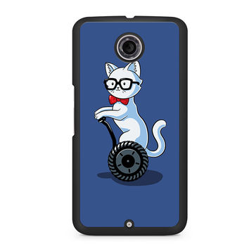 White And Nerdy Cat Nexus 6 case