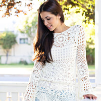 Knit Bell Sleeve Top