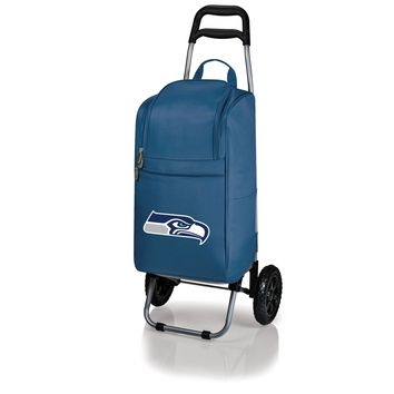Seattle Seahawks - Cart Cooler with Trolley (Navy)